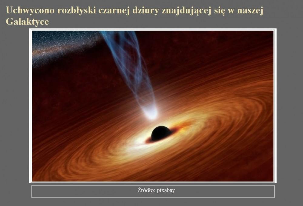 Uchwycono rozbłyski czarnej dziury znajdującej się w naszej Galaktyce.jpg