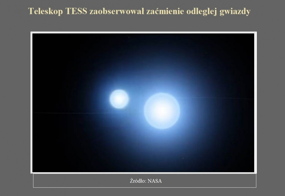 Teleskop TESS zaobserwował zaćmienie odległej gwiazdy.jpg
