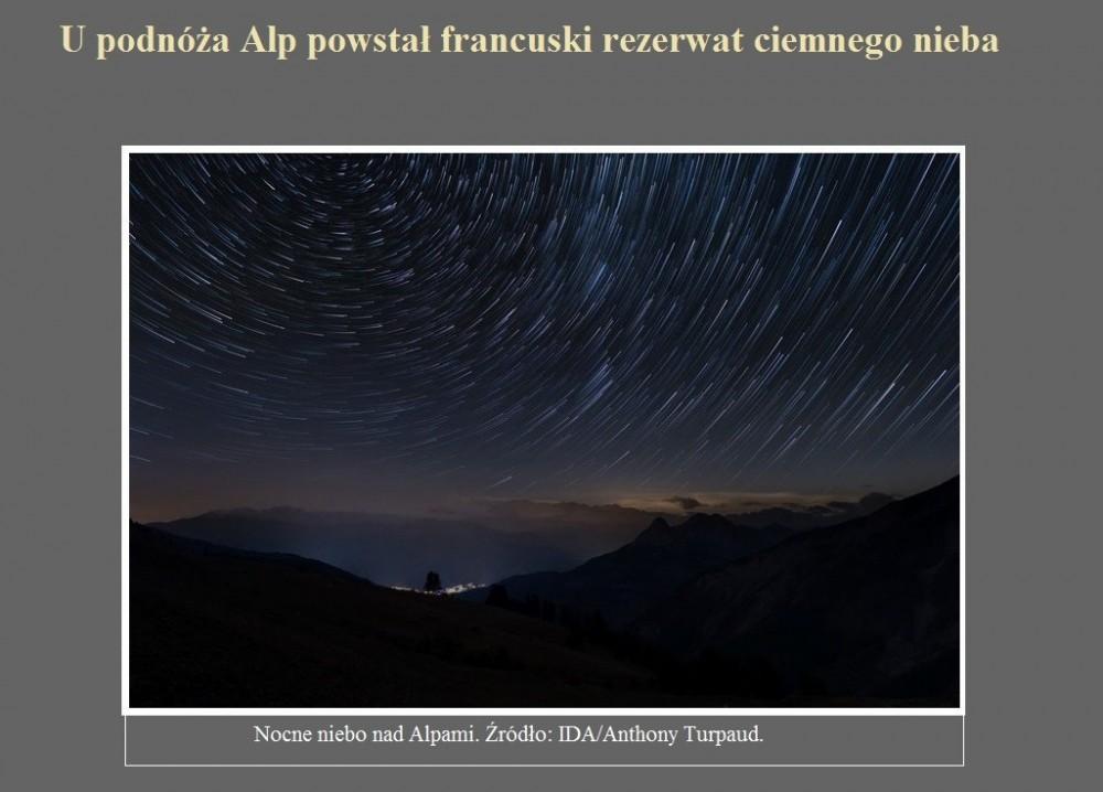 U podnóża Alp powstał francuski rezerwat ciemnego nieba.jpg