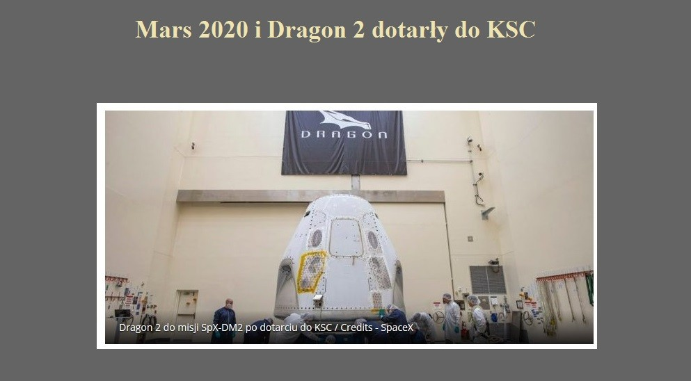 Mars 2020 i Dragon 2 dotarły do KSC.jpg