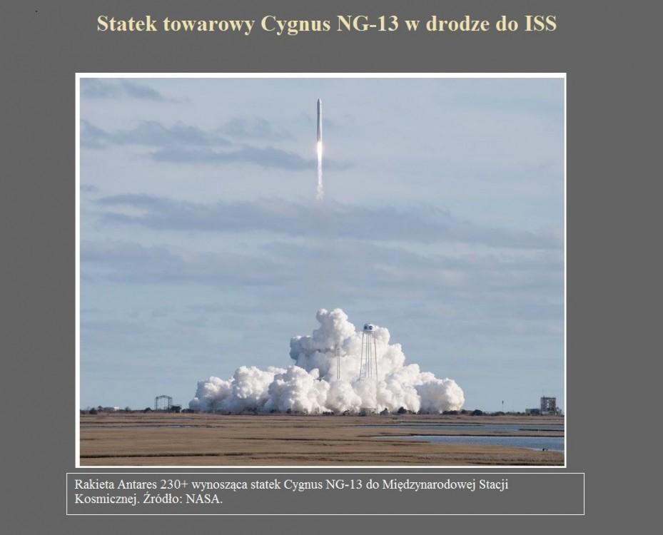 Statek towarowy Cygnus NG-13 w drodze do ISS.jpg