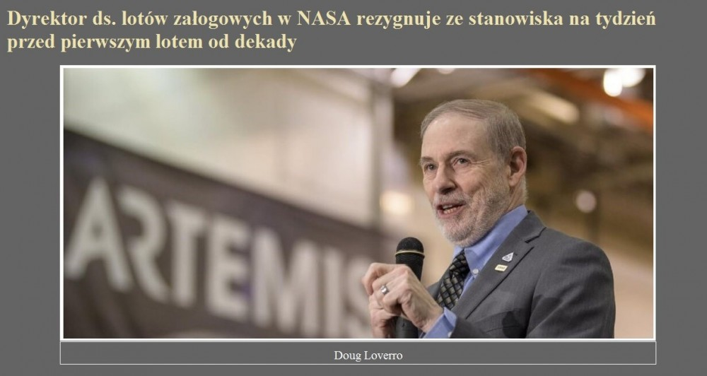 Dyrektor ds. lotów załogowych w NASA rezygnuje ze stanowiska na tydzień przed pierwszym lotem od dekady.jpg