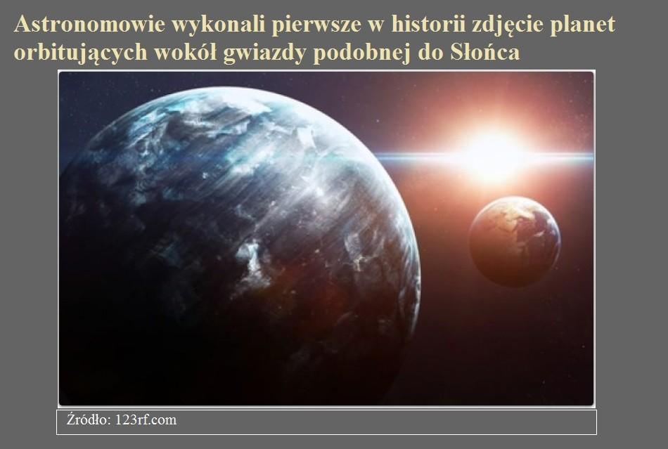 Astronomowie wykonali pierwsze w historii zdjęcie planet orbitujących wokół gwiazdy podobnej do Słońca.jpg