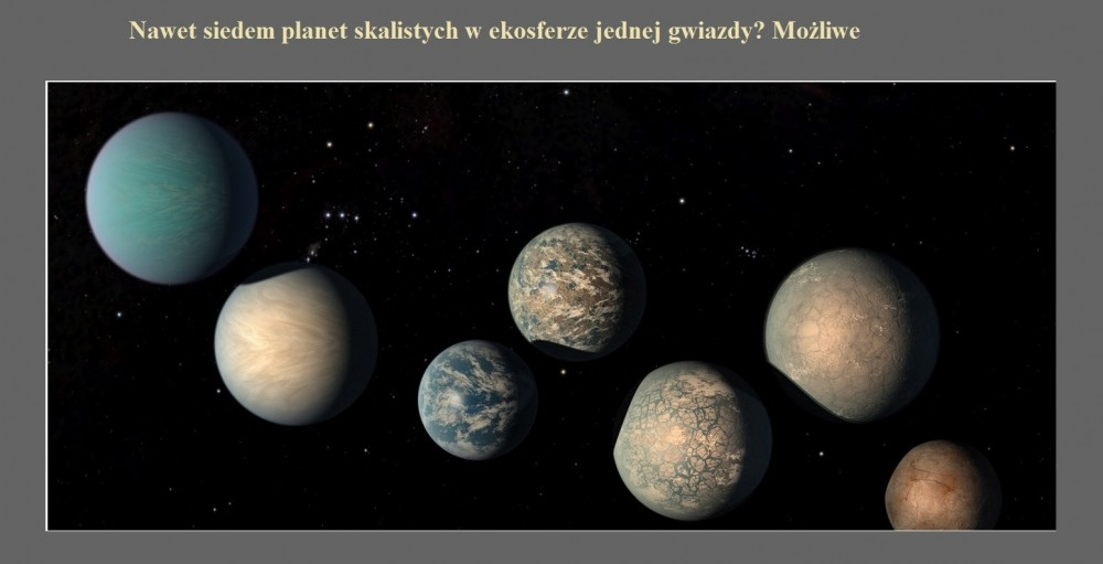 Nawet siedem planet skalistych w ekosferze jednej gwiazdy Możliwe.jpg