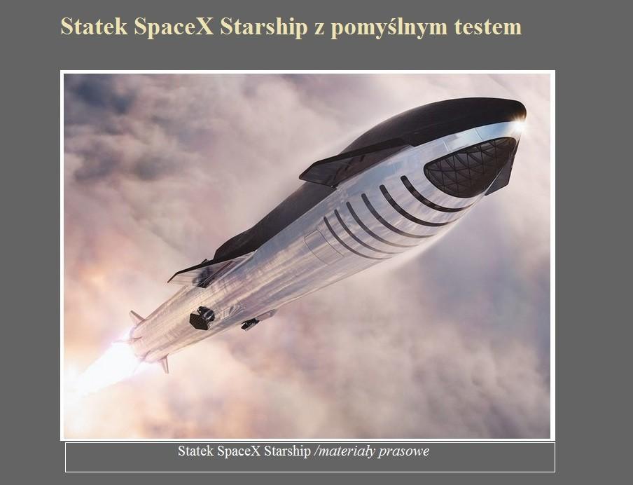Statek SpaceX Starship z pomyślnym testem.jpg