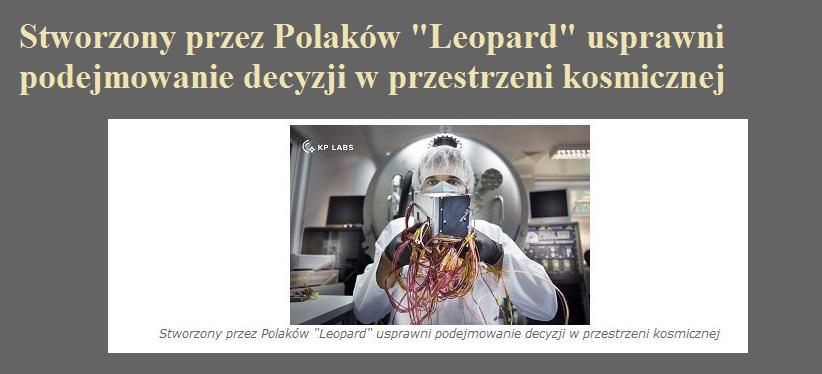Stworzony przez Polaków Leopard usprawni podejmowanie decyzji w przestrzeni kosmicznej.jpg
