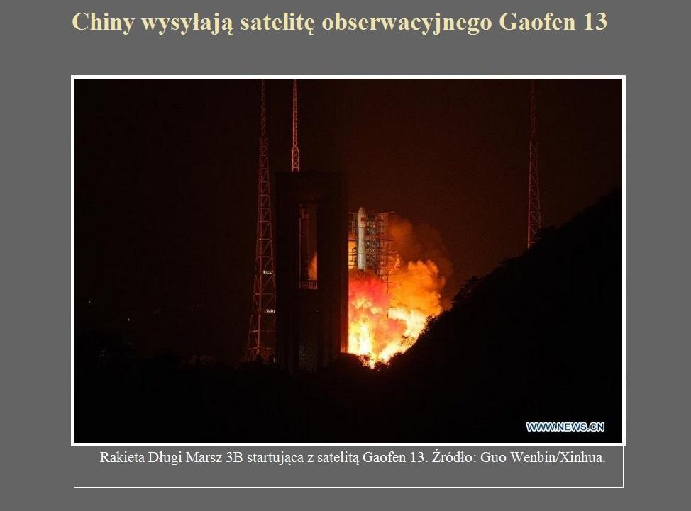Chiny wysyłają satelitę obserwacyjnego Gaofen 13.jpg