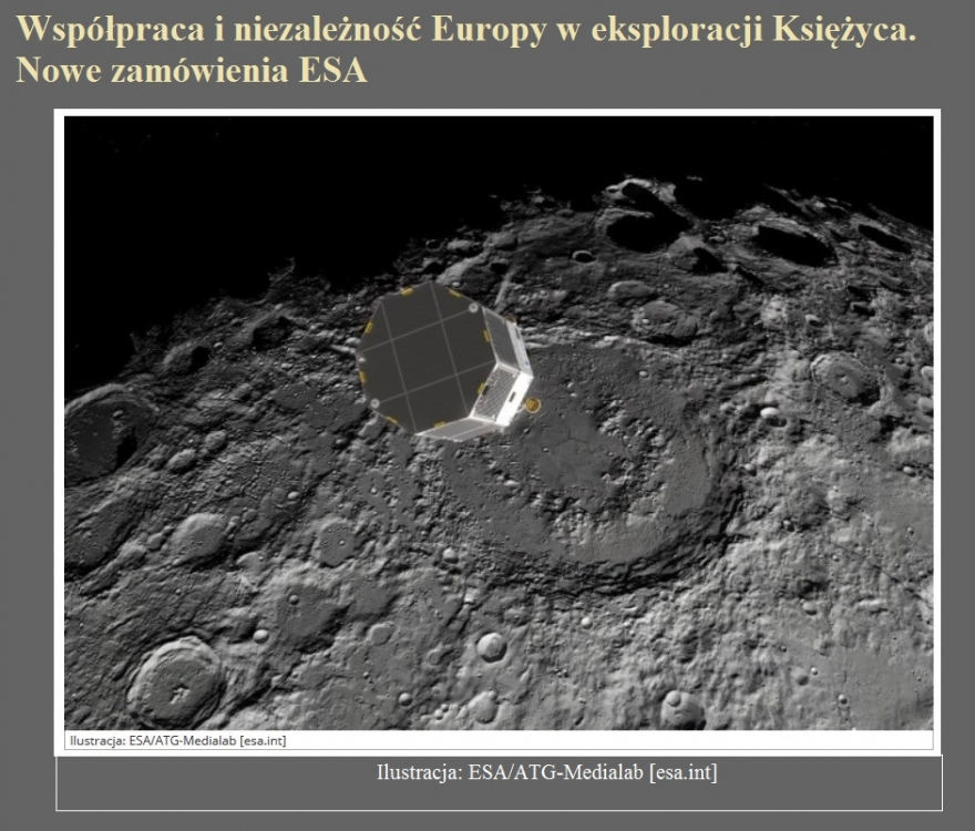 Współpraca i niezależność Europy w eksploracji Księżyca. Nowe zamówienia ESA.jpg