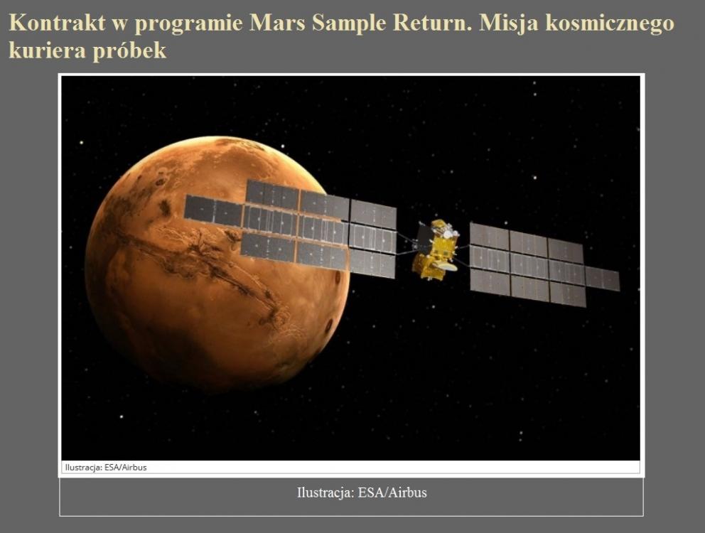 Kontrakt w programie Mars Sample Return. Misja kosmicznego kuriera próbek.jpg