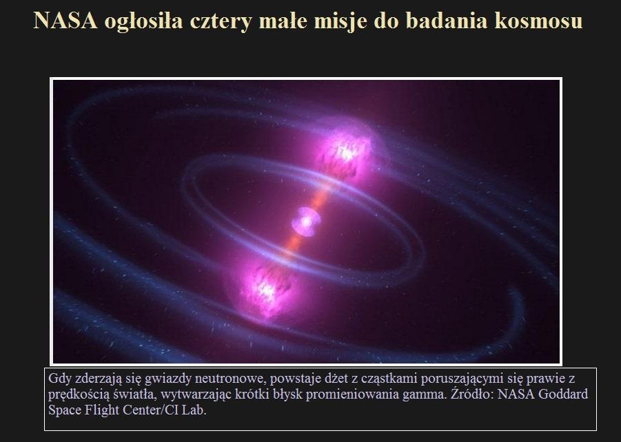 NASA ogłosiła cztery małe misje do badania kosmosu.jpg