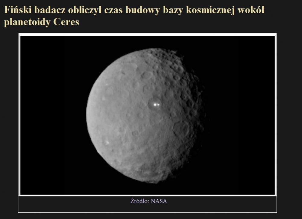 Fiński badacz obliczył czas budowy bazy kosmicznej wokół planetoidy Ceres.jpg