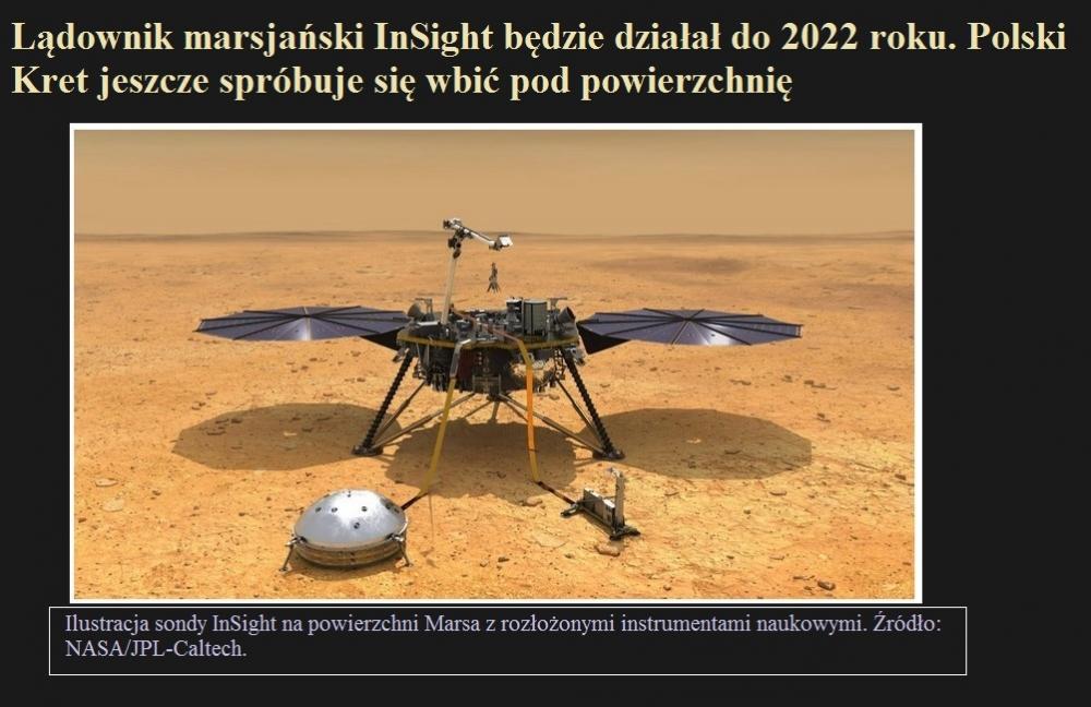 Lądownik marsjański InSight będzie działał do 2022 roku. Polski Kret jeszcze spróbuje się wbić pod powierzchnię.jpg