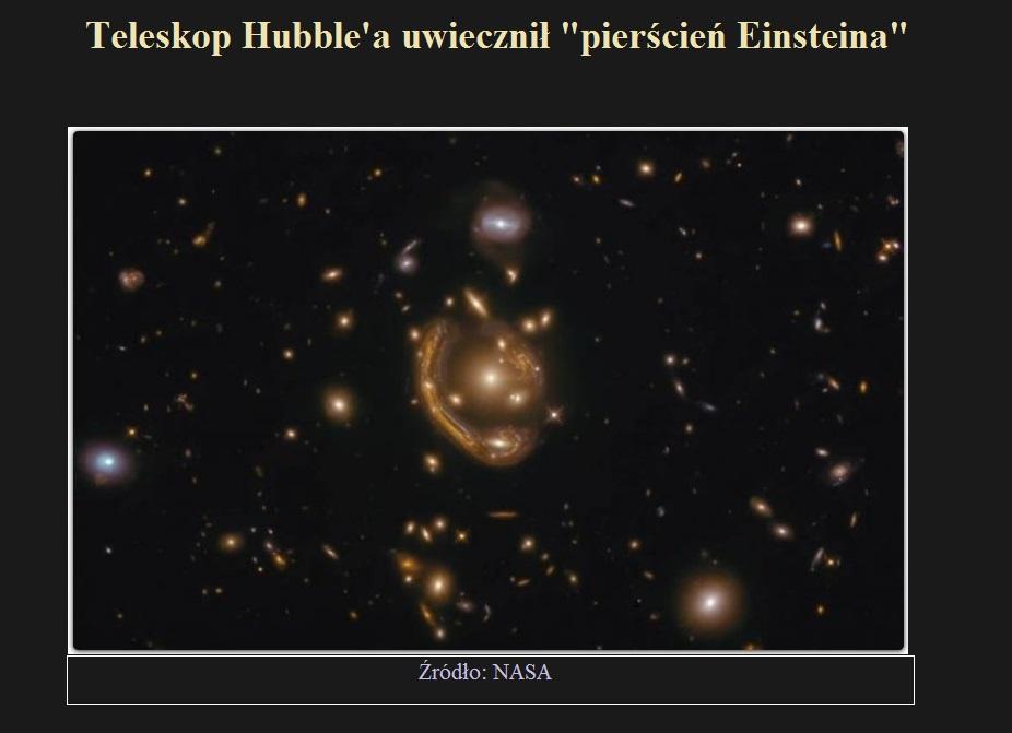 Teleskop Hubble'a uwiecznił pierścień Einsteina.jpg