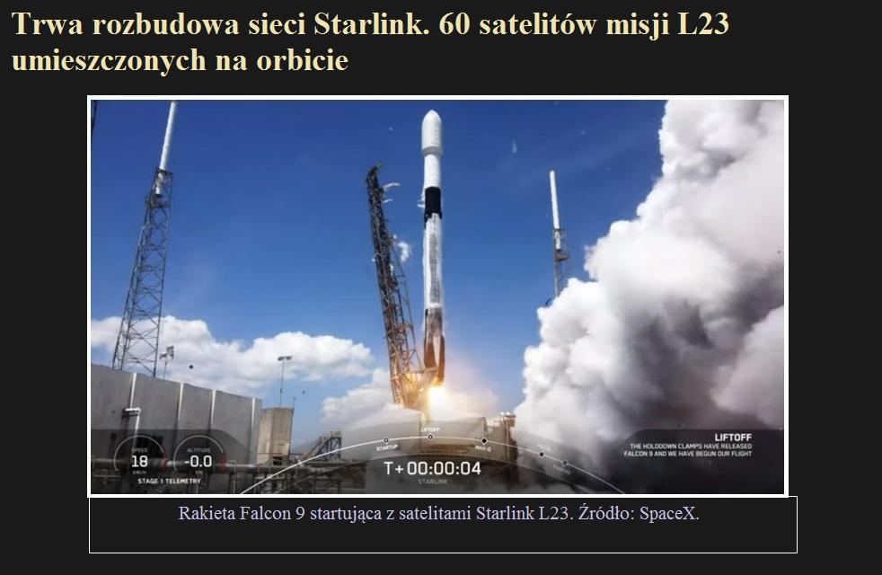 Trwa rozbudowa sieci Starlink. 60 satelitów misji L23 umieszczonych na orbicie.jpg