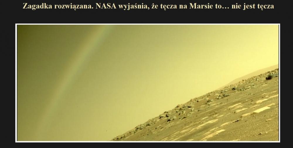 Zagadka rozwiązana. NASA wyjaśnia, że tęcza na Marsie to… nie jest tęcza.jpg