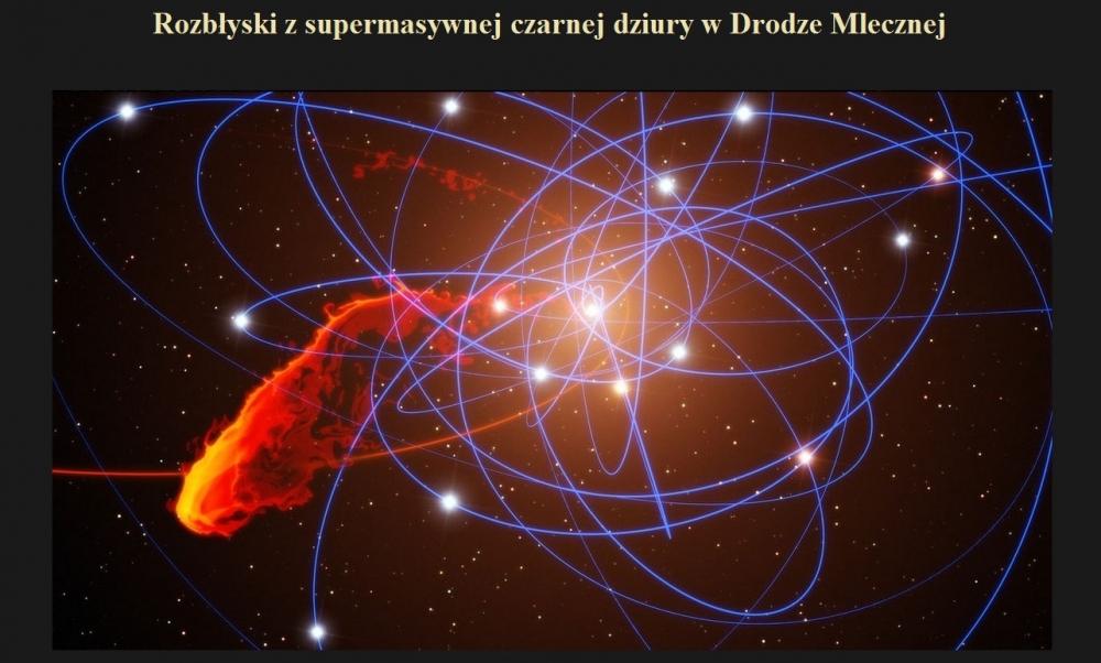 Rozbłyski z supermasywnej czarnej dziury w Drodze Mlecznej.jpg