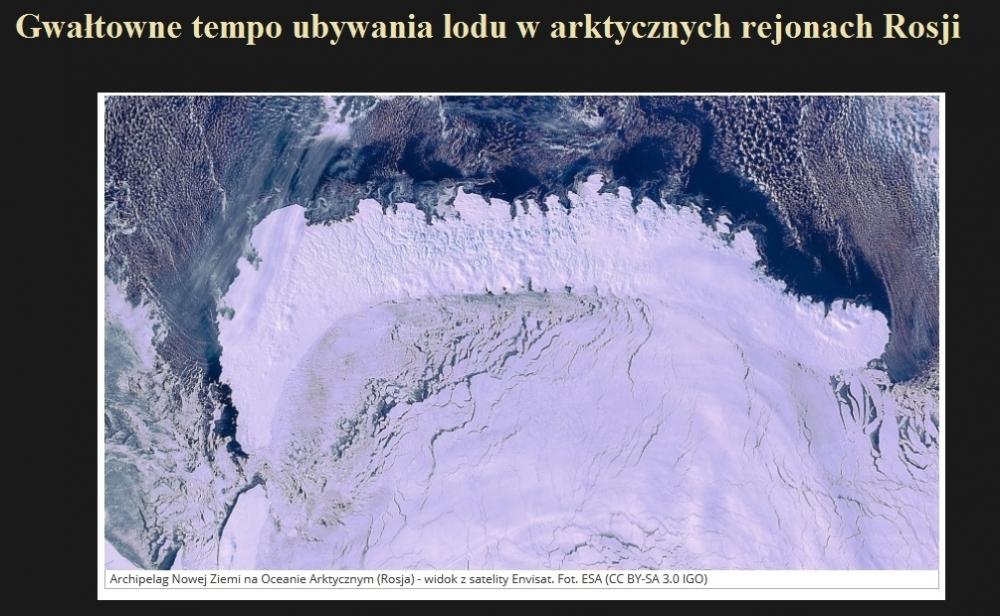 Gwałtowne tempo ubywania lodu w arktycznych rejonach Rosji.jpg