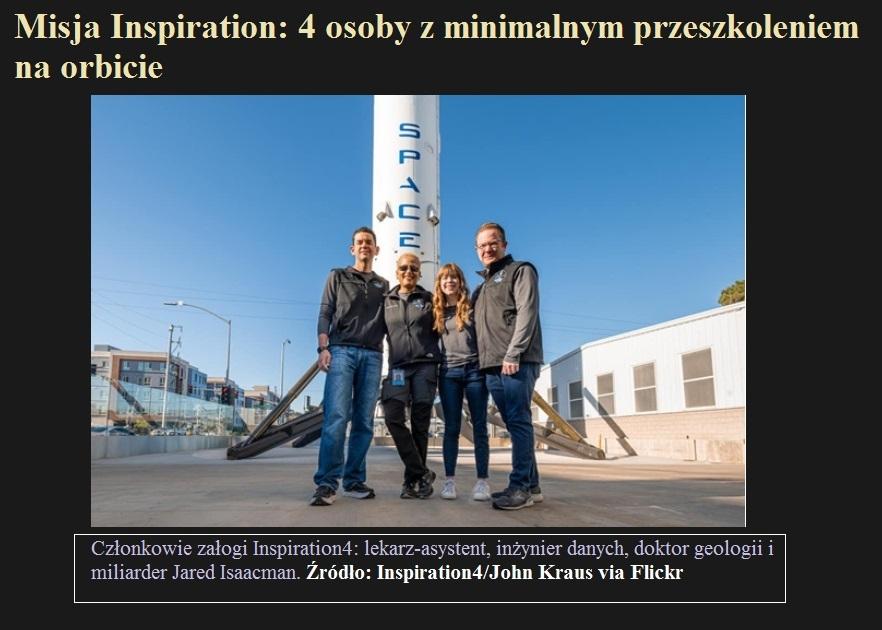 Misja Inspiration 4 osoby z minimalnym przeszkoleniem na orbicie.jpg